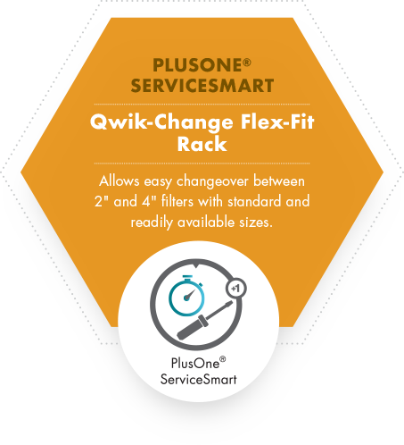 PlusOne ServiceSmart Qwik-Change Flex-Fit Rack